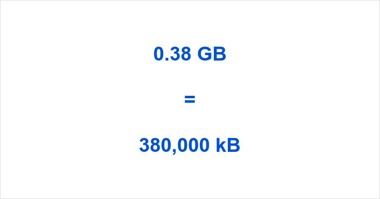 0.38 GB to kB