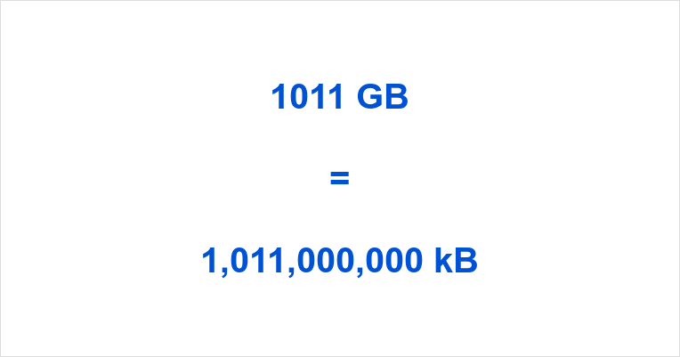 1011 GB to kB