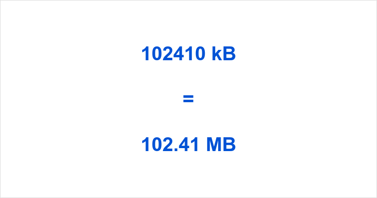 102410 kB to MB