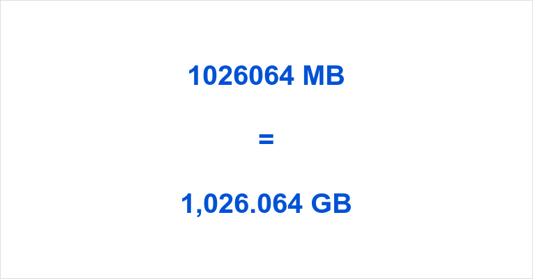 1026064 MB to GB