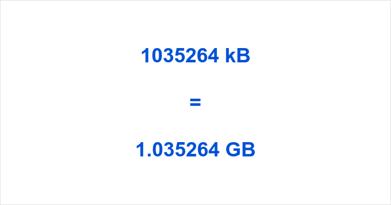 1035264 kB to GB