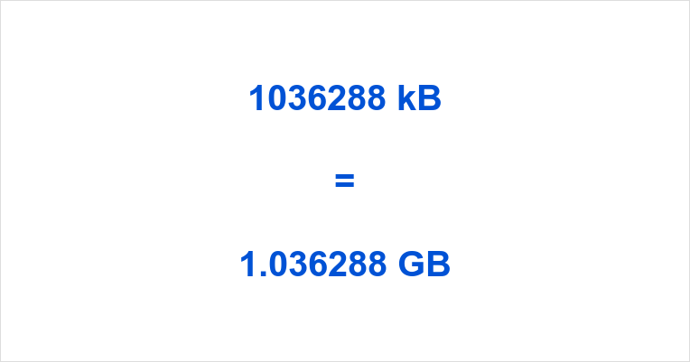 1036288 kB to GB