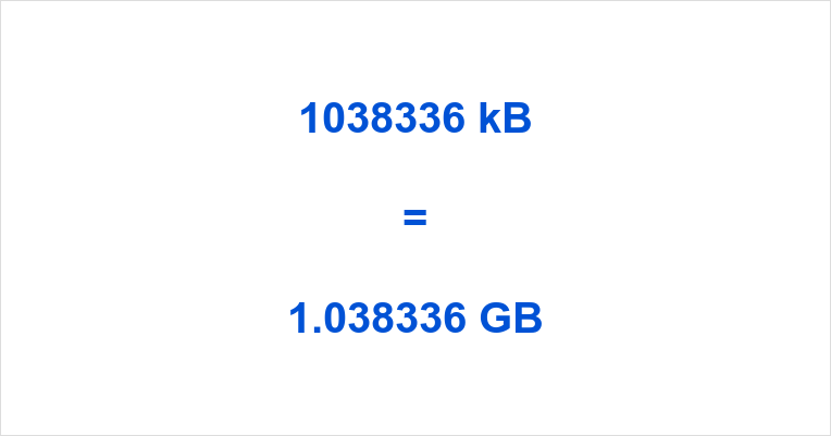1038336 kB to GB