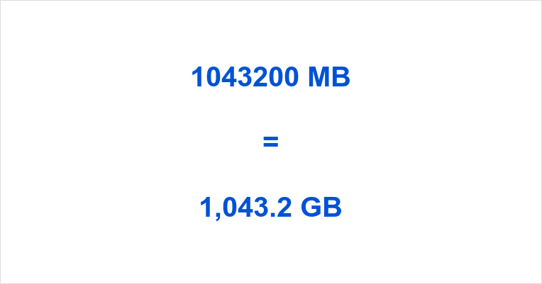 1043200 MB to GB