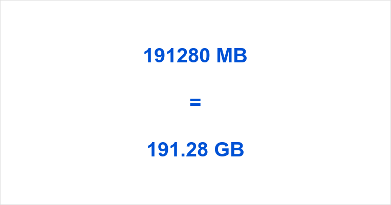 191280 MB to GB