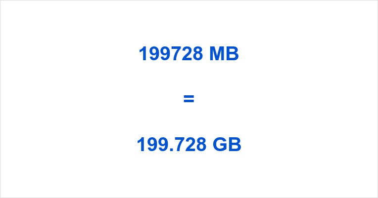 199728 MB to GB
