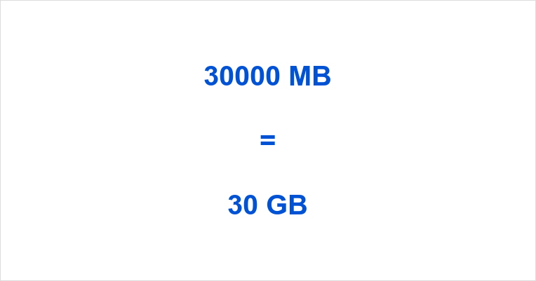 30000 MB to GB - 30000 MB in GB - How much is 30000 MB?