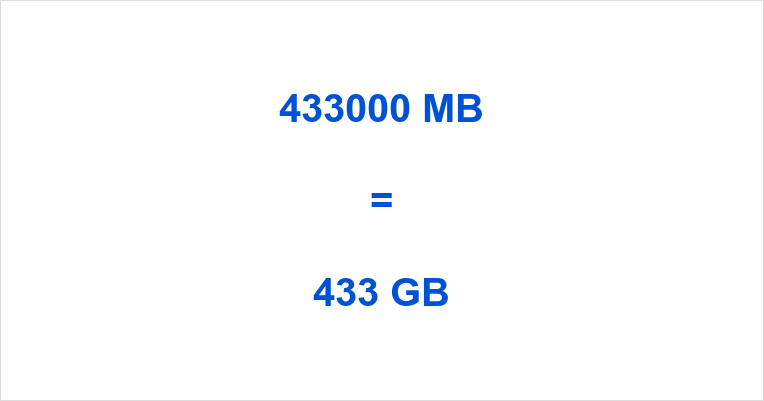 433000 MB to GB