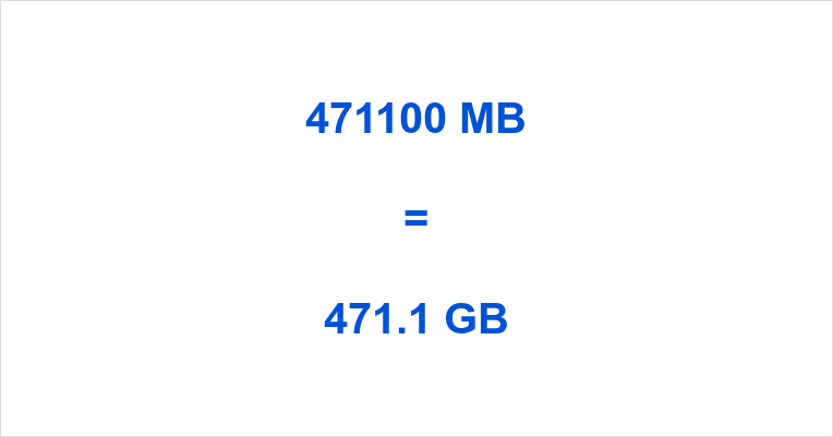 471100 MB to GB