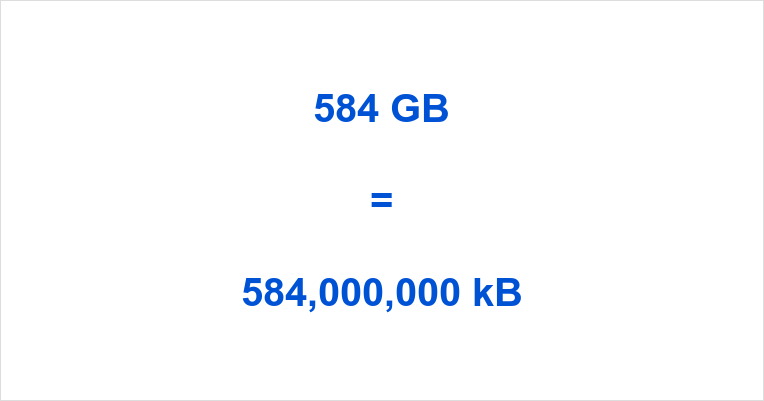 584 GB to kB