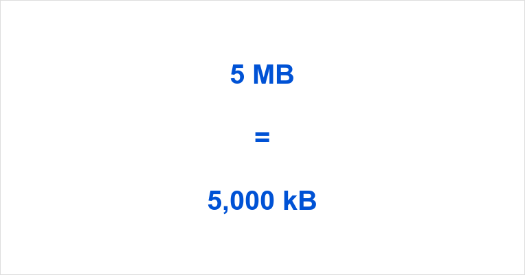 5 MB to kB