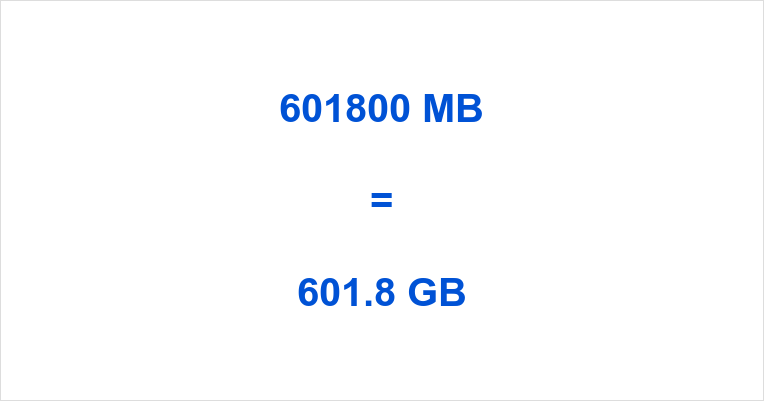 601800 MB to GB