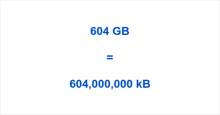 604 GB to kB