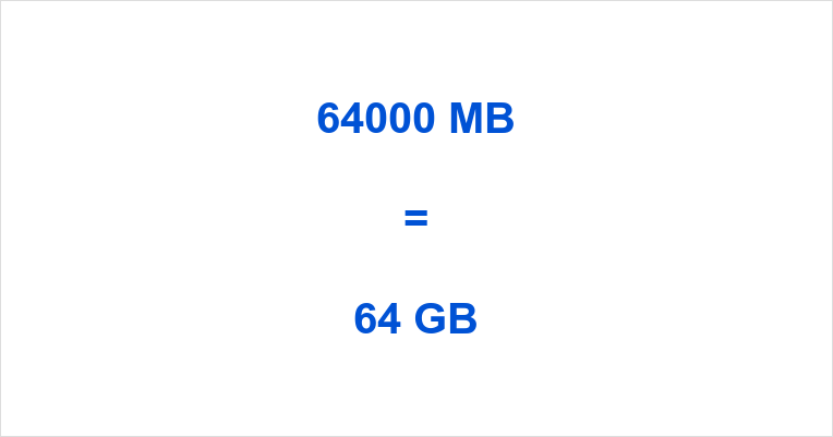 64000 MB Equals How Many GB You Know Already But Can Read On To Learn Much Is In Other Multiples Of Bytes