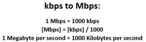 kbps to Mbps